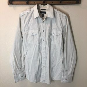 Guess button down shirt. Two toned cream color